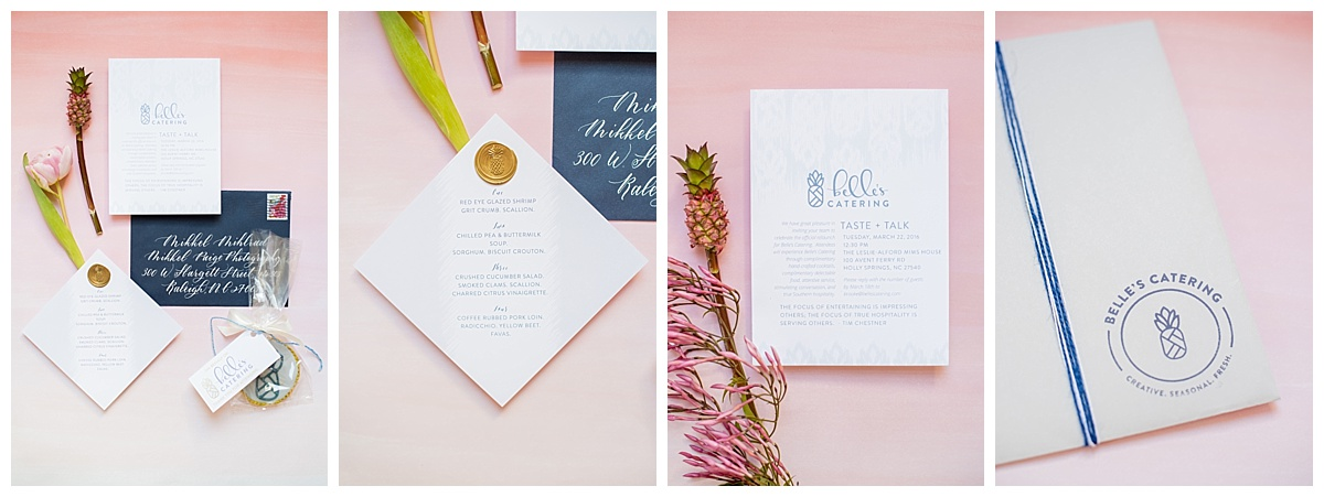 nc wedding caterer calligraphy custom invitations menu cards
